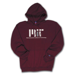Maroon Hooded Contemporary MIT Sweatshirt