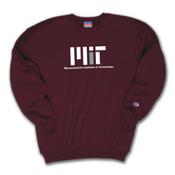 Maroon Contemporary Design Crew Sweatshirt