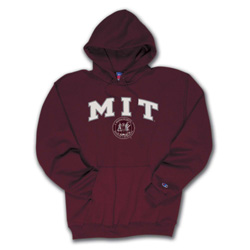 Hooded MIT Maroon Sweatshirt