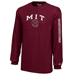 Youth Long Sleeve Maroon MIT T Shirt