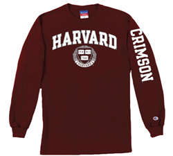 Harvard Youth Long Sleeve Maroon T Shirt