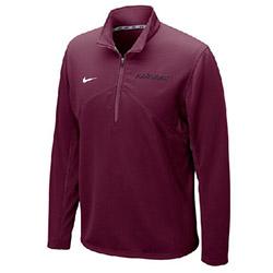 New ! Nike 1/4 Zip Harvard Dry Fit Maroon Training Top