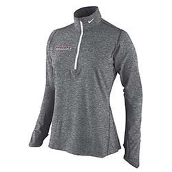 Women's Harvard Nike Carbon Grey 1/4 Zip Dri Fit Jacket