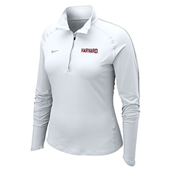 Nike Women's Harvard  1/4 Zip Dri Fit  White Jacket