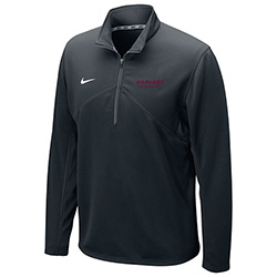 New ! Nike 1/4 Zip  Dry Fit Black Training Top w/Harvard on the sleeve