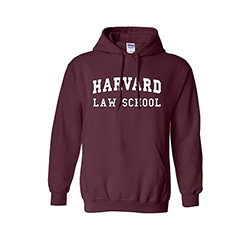 Harvard Law School Maroon Hooded Sweatshirt