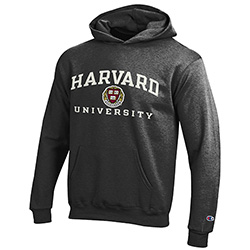 Harvard Youth Granite Versa Twill Hooded Sweatshirt
