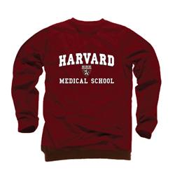 Harvard Medical School Maroon Crew Sweatshirt