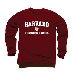 Harvard Business School Maroon Crew Sweatshirt