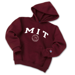 MIT Youth Maroon Hooded Sweatshirt