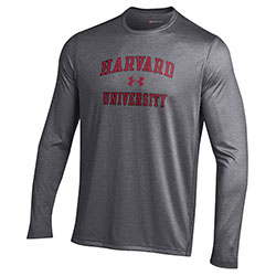 Under Armour Long Sleeve Carbon Grey  Harvard T Shirt