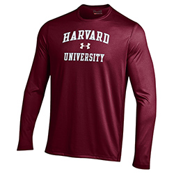 Under Armour Maroon Harvard Long Sleeve T Shirt