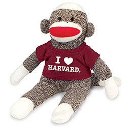 Harvard Sock Monkey Plush