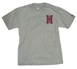 Class of 2002 Men's Grey T Shirt with left chest H