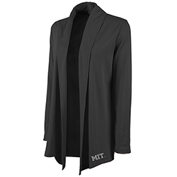 Woman's MIT Black Cardigan Wrap
