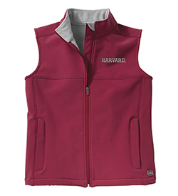 Harvard Women's Raspberry Soft Shell Vest
