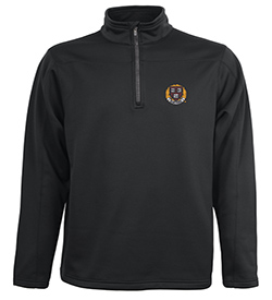 Men's 1/4 Zip Harvard Stealth Bonded Microfleece Black