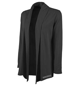 Woman's Harvard Black Cardigan Wrap
