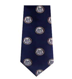 M.I.T. Seal 100% Medallion Navy Seal Silk Tie