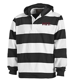 Classic MIT Rugby Black/White Hooded  Sweatshirt