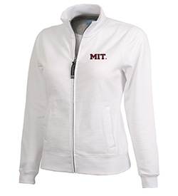 MIT Full Zip Onyx White Women's  Sweatshirt