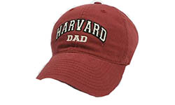 Burgundy Unstructured Harvard Dad Hat