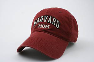 Burgundy Unstructured Harvard Mom Hat