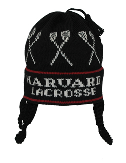 Hand Made Heavy Wool Flap Harvard Lacrosse Hat