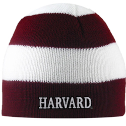 Harvard Maroon & White Rugby Knit Hat