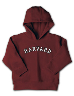 Maroon Toddler Harvard  Hooded Sweatshirt