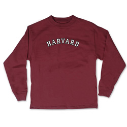 Maroon Toddler Harvard Long Sleeve T Shirt