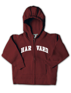 Maroon Full-Zip Toddler Harvard Sweatshirt
