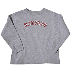 Harvard Grey Long Sleeve Toddler T Shirt