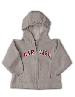 Grey Full-Zip Infant Harvard Sweatshirt