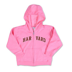 Pink Infant Full Zip Hooded Harvard Sweatshirt