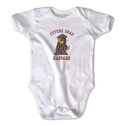 Harvard Future Graduate Infant  White Bodysuit