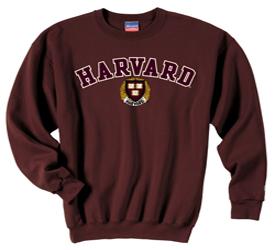 Harvard w/Seal Embroidered Maroon Crew Sweatshirt
