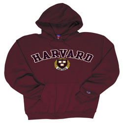 Harvard w/Seal Embroidered Maroon Hooded Sweatshirt