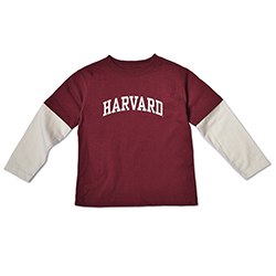Harvard Maroon Toddler Layered T Shirt