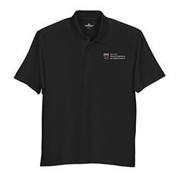 Harvard School of Applied Science & Engineering Black Wicking Micro Mesh Polo