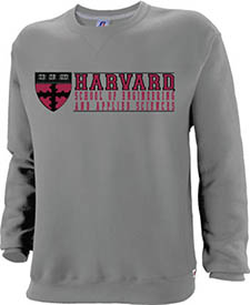 Harvard School of Engineering and Applied Sciences Grey  Crew Sweatshirt