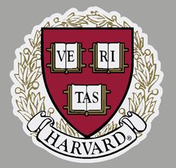 Harvard Veritas Outside Square  Decal