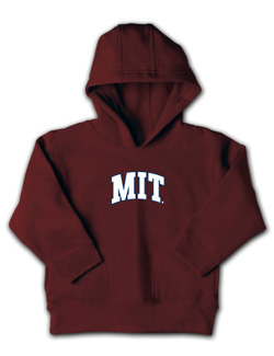 Maroon Toddler MIT Hooded Sweatshirt