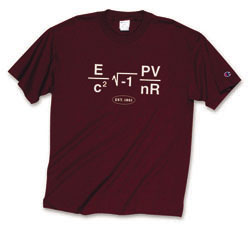 Maroon MIT Math Equation T Shirt