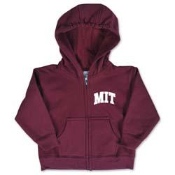 MIT Maroon Infant Full Zip Sweatshirt