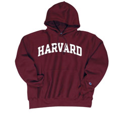 Reverse Weave Harvard Maroon Hooded Sweatshirt