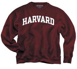 Reverse Weave Harvard Crew Maroon Sweatshirt