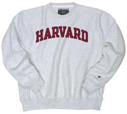 Reverse Weave Harvard Grey Crew Sweatshirt