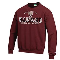Harvard Medical School Versa Twill Crew Maroon Sweatshirt
