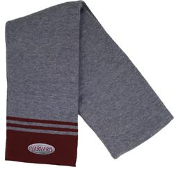 Harvard Charcoal/Maroon Knit Scarf